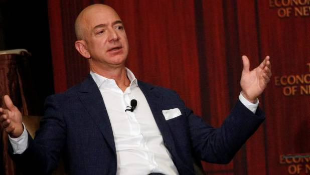 Amazon CEO Jeff Bezos' personal fortune has surpassed US$80 billion for the first time.