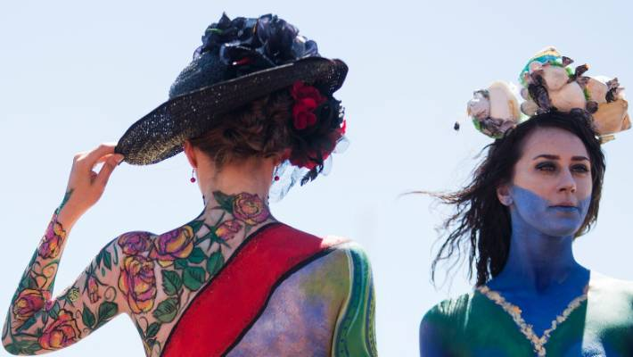 Models Bare All For New Zealand Trotting Cup Body Art Contest Stuff Co Nz