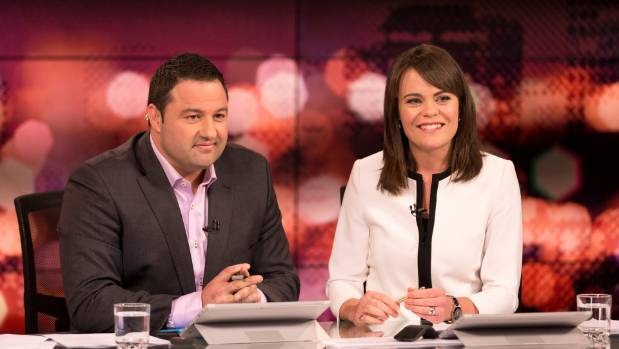 Duncan Garner and Heather du Plessis-Allan presenting the cancelled current affairs show, Story.