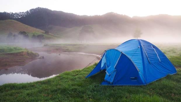 A perfect spot to camp during the Tour de Coromandel.