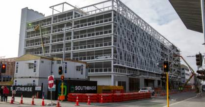 The Christchurch City Council contributed $28 million to The Crossing Carpark building.