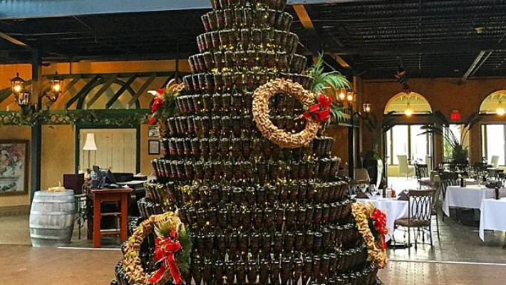 Wine Bottle Christmas Tree Craft.Our New Favourite Festive Craft Wine Bottle Christmas Trees