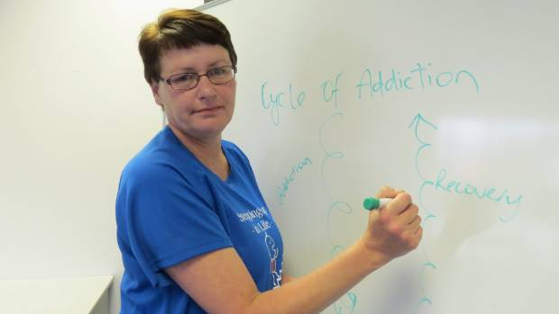 Westport woman Gail Cossar set up a support group to help people with drug and alcohol addictions.
