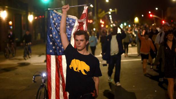 Hundreds of California students protest Trump victory