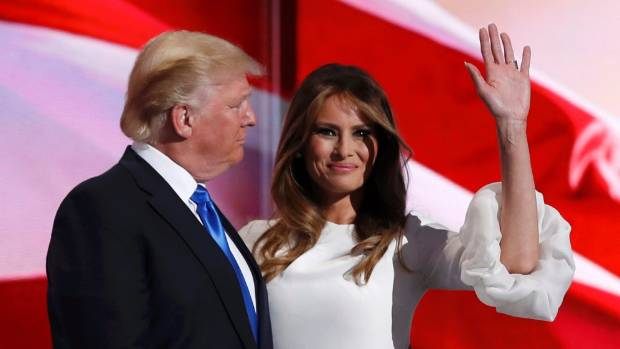The President-elect of the United States and his third-lady Melania Trump.