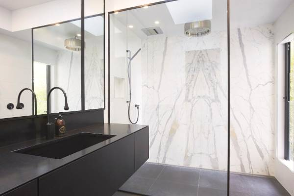 Ensuite Bathroom Nz black and white rules in the bathroom | stuff.co.nz