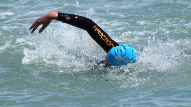 Hayden Squance won his second straight Port Nelson Sea Swim Series race.