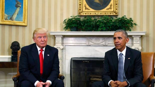 Meanwhile US President Barack Obama met with President-elect Donald Trump at the White House Oval Office in Washington, ...