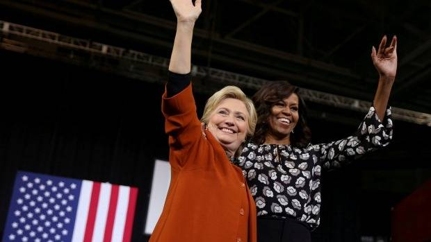 Hillary Clinton's campaign was supported by Michelle Obama.