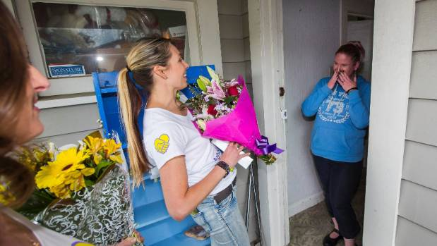Anita Nunn was given gifts and flowers by PowerCo staff as a random act of kindness movement swept over Palmerston North.