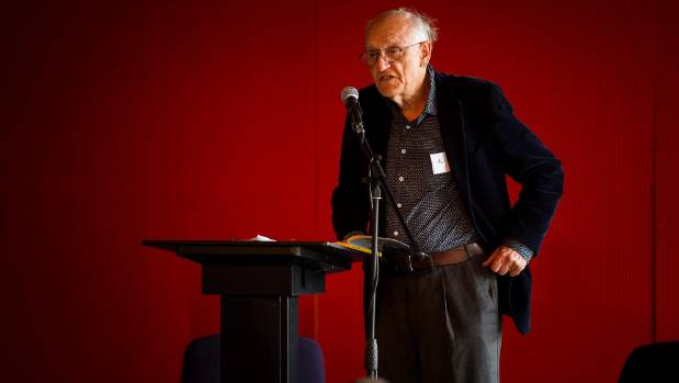 New Zealand Poet Laureate C.K. Stead shares some of his poetry at the East-West Poetry Fest in the City Library, ...