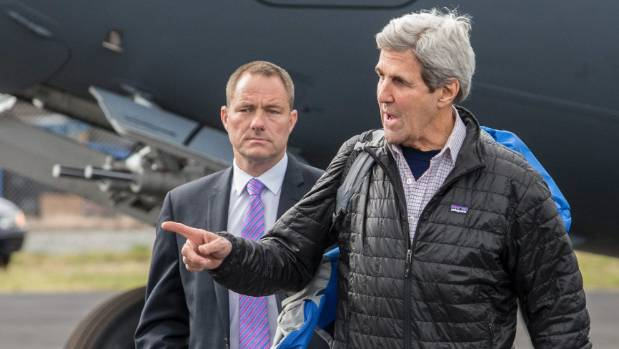US Secretary of State John Kerry arrived back in Christchurch on Saturday, where he changed aircraft and flew on to ...