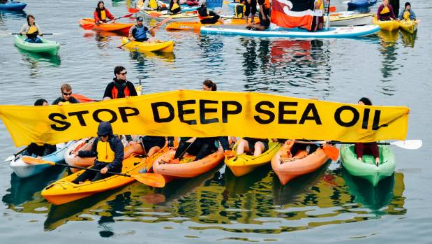 Protesters took to Wellington Harbour on Sunday to make it clear  they did not want the Amazon Warrior in the country.