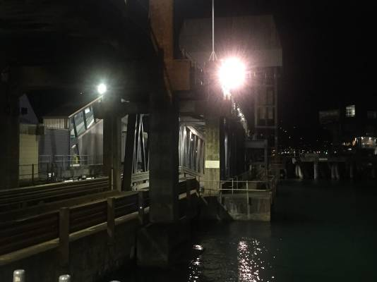 The bridge at Wellington ferry terminal has collapsed.