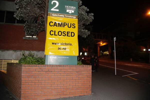 Victoria University of Wellington's Kelburn campus is closed.