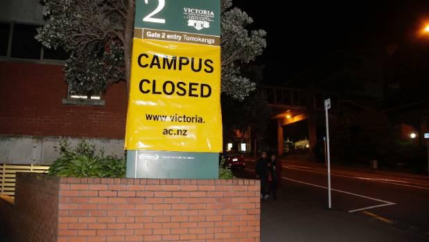 Victoria University in Wellington is closed.