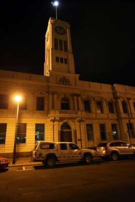 The Timaru town clock stopped after the major earthquake just after midnight.