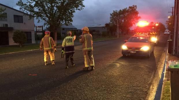 Firefighters evacuate residents in coastal areas of Timaru.