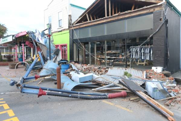 Builing damage on Picton's High St.