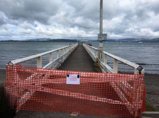 Wellington's Days Bay Wharf was closed following the earthquake.