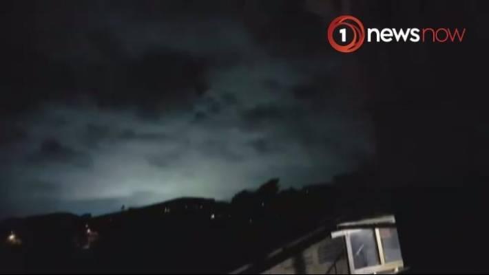 Image result for blue sky lightning kaikoura earthquake