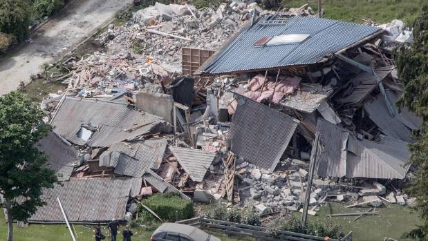 Major damage caused by the 7.5-magnitude earthquake in Canterbury.