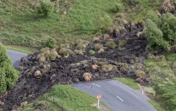 A slip near Mt Lyford.