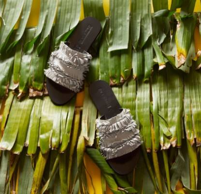 SHOE OF THE WEEK: Sol Sana June slides, $130, from Black Box Boutique blackboxboutique.co.nz. - Karlya Smith