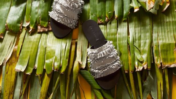 Sol Sana June slides, $130, from Black Box Boutique.