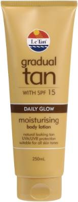 STEAL: Le Tan Daily Glow Gradual Tan SPF15, $11.99. With an SPF factor of 15, this gradual tanner not only gradually ...