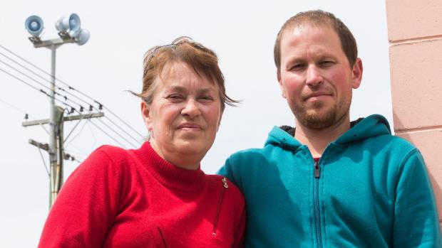 Mother and son Geert van der Lee and Marco van Werkhooven say the tsunami warning sirens should have been activated much ...