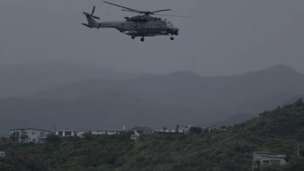 Helicopters have been deployed to survey damage over Wellington.