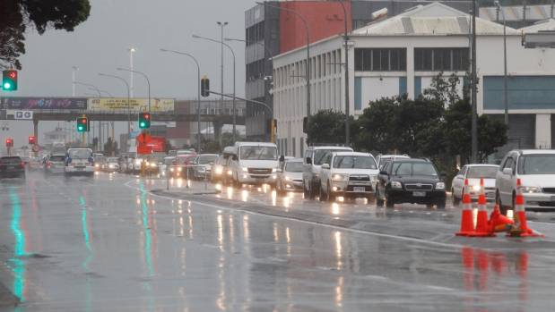 Torrential rain, combined with areas of Wellington CBD being closed off after Monday's earthquakes, is making the ...