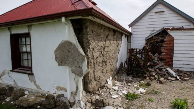 Waiau's historic Cobb Cottage was wrecked by the quake and tsunami that followed.
