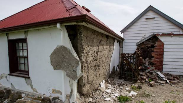 Historic Cobb Cottage in Waiau suffered badly.