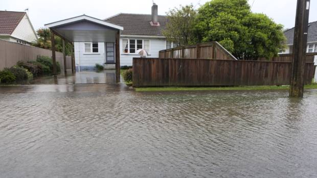 Roads in Naenae, Lower Hutt are under water.