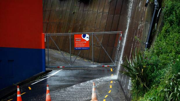 Excessive rain has caused flooding  behind Leonards self storage Hutt Road, Wellington.