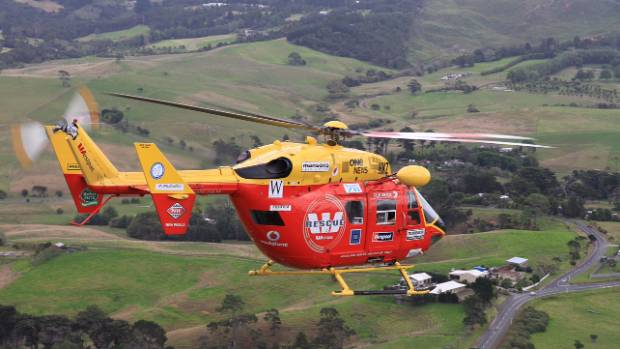 Two Auckland Westpac Rescue Helicopters are helping in the rescue in Kaipara Harbour.