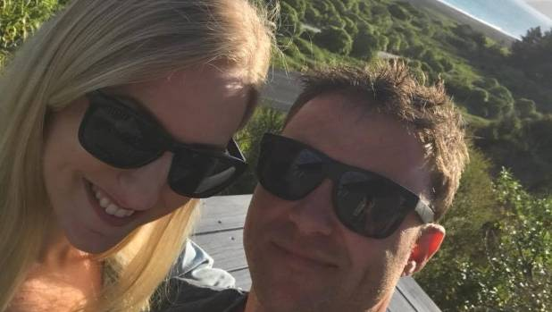Newlyweds Kurt and Kailah Sapwell in Kaikoura on their honeymoon before Monday's deadly earthquake.