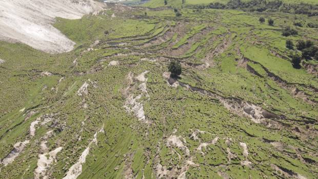 Broken landscapes in Kaikoura following November 14 earthquake.