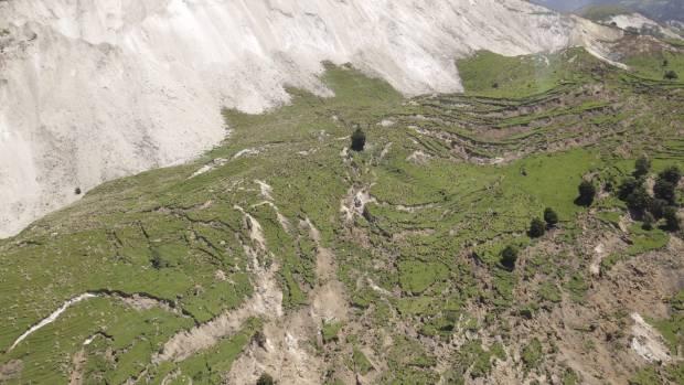 Extreme land damage in Kaikoura.
