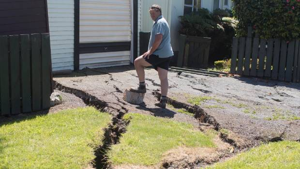 Property damage in Kaikoura from the November 2016 earthquake.
