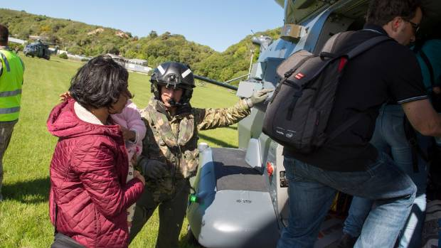 Wing commander Scott McKenzie says there is a fair amount of relief for some people getting out of Kaikoura.