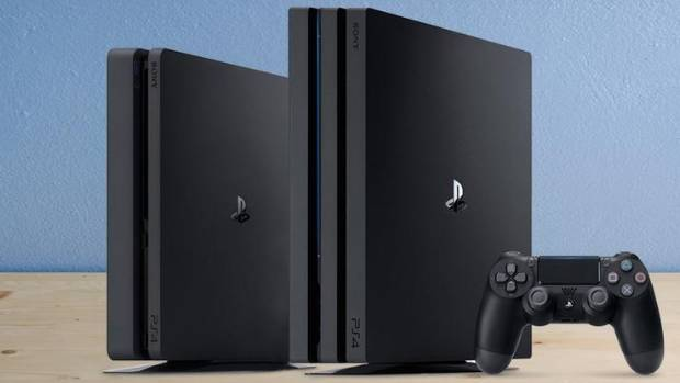 The Play Station 4 Pro is noticeably bigger and bulkier than its little brother the PS4 Slim