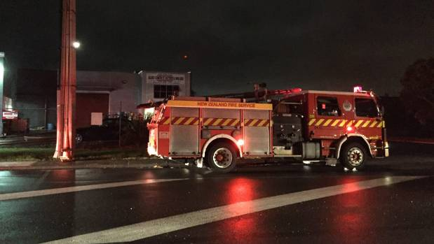 15 fire vehicles rushed to the scene in Glendene, west Auckland.