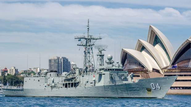 Australian navy guided missile frigate HMAS Darwin is joining Kaikoura earthquake relief efforts