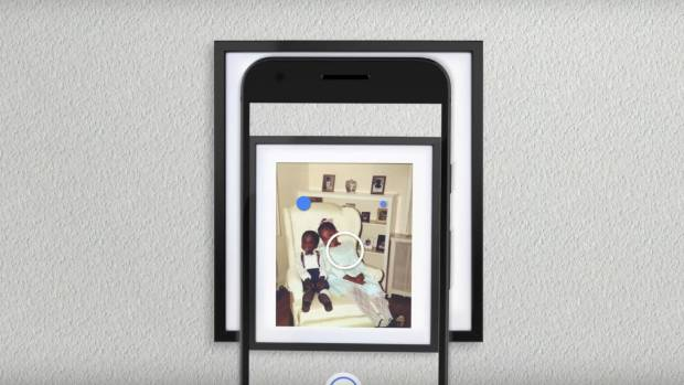 The PhotoScan app works on iPhones and Android phones.