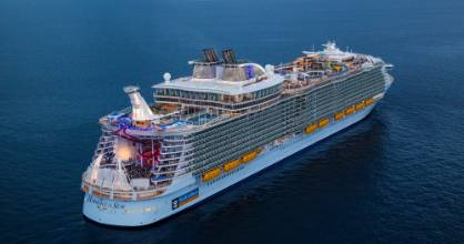 Harmony of the Seas, the world's biggest cruise ship.