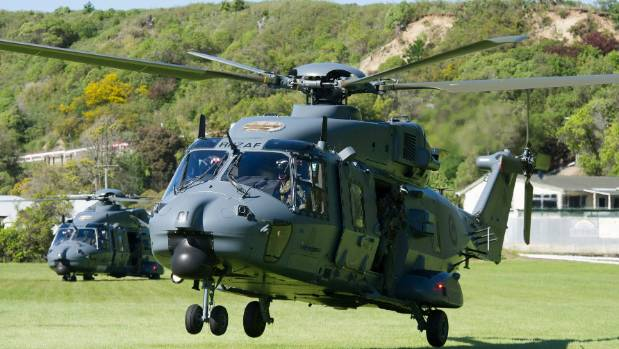 New Zealand Defence Force helps Kaikoura in hour of need