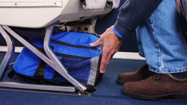 No Carry On Bags Allowed In Overhead Compartment Under